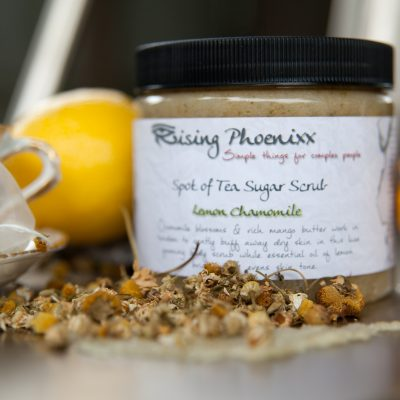lemon chamomile sugar scrub